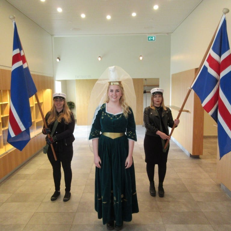 Fjallkonan, The moutain woman, at the national day of Iceland