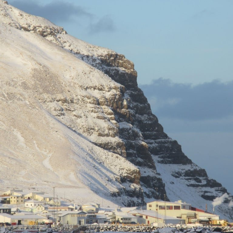 Bolungarvík and the bird cliffs above