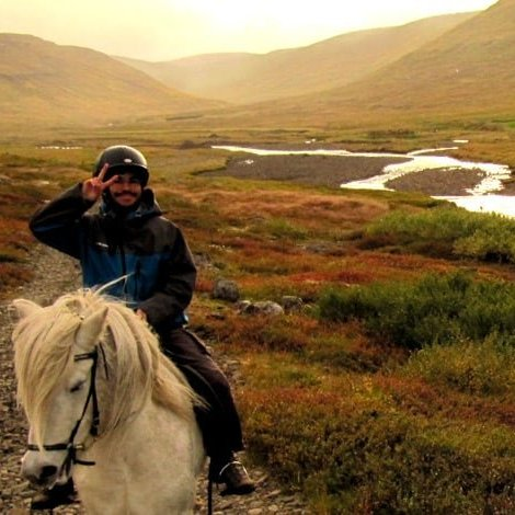 horseback riding in Heydalur
