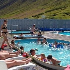 the swimming pool in Suðureyri